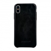 Чехол Jisoncase для iPhone X Leather Black