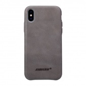 Чехол Jisoncase для iPhone X Leather Gray
