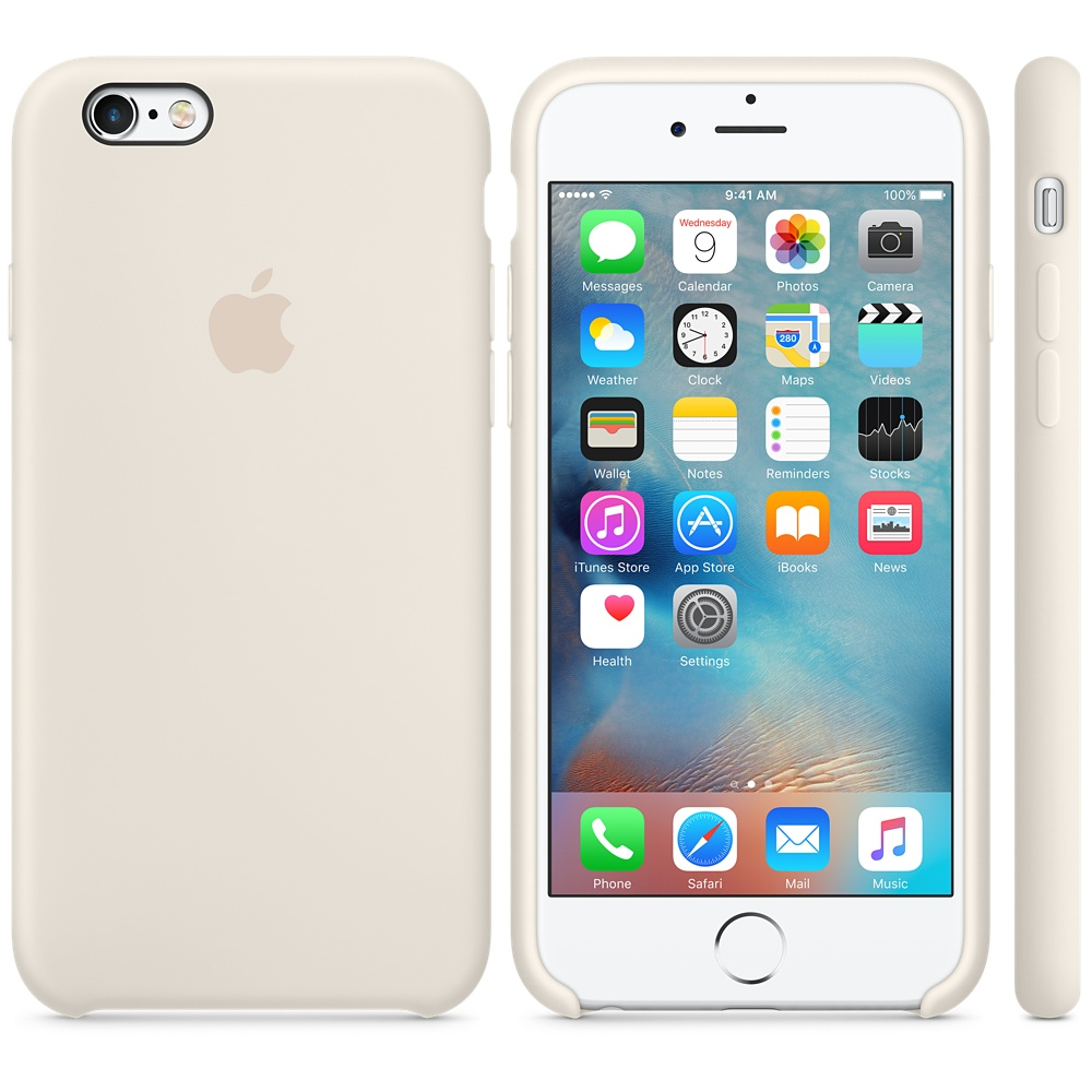 Чехол Apple Silicone Case для iPhone 6 Plus/6s Plus Antique White OEM