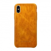 Чехол Jisoncase для iPhone X Leather Light Brown