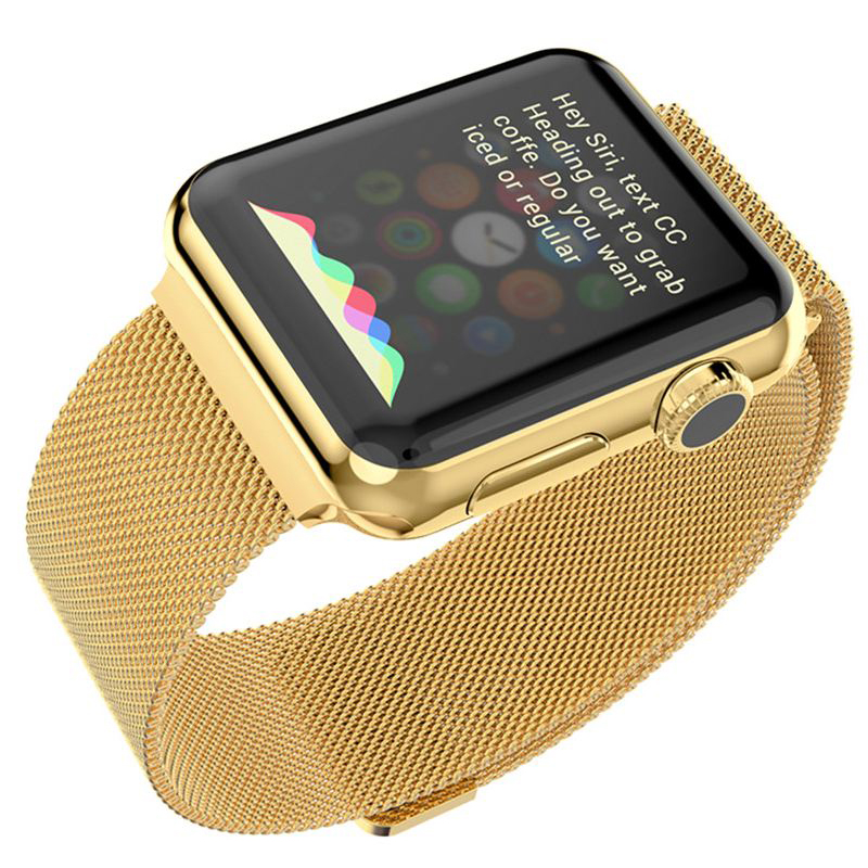 Ремешок Milanese Loop Gold для Apple Watch 42mm