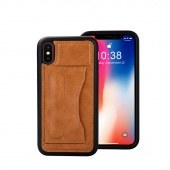 Чехол Jisoncase для iPhone X Brown