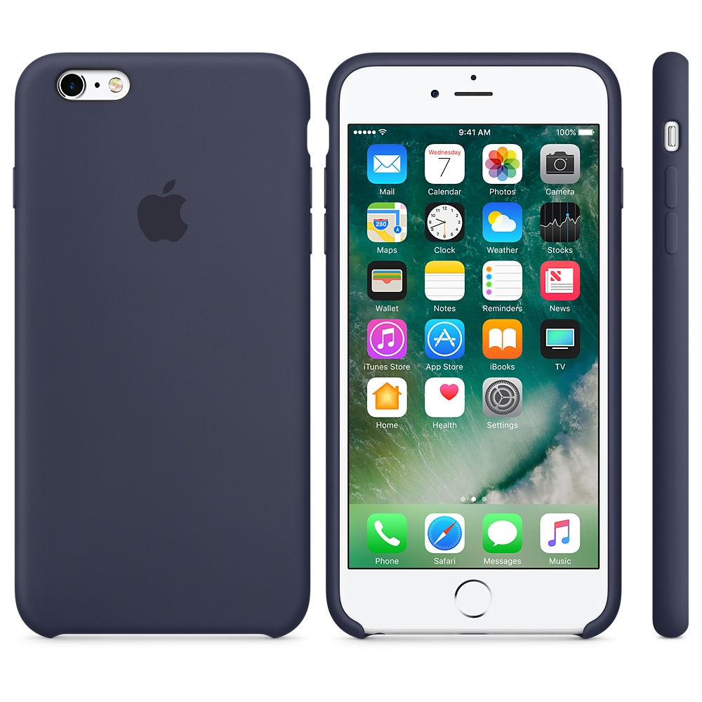 Чехол Apple Silicone Case для iPhone 6 Plus/6s Plus Midnight Blue OEM