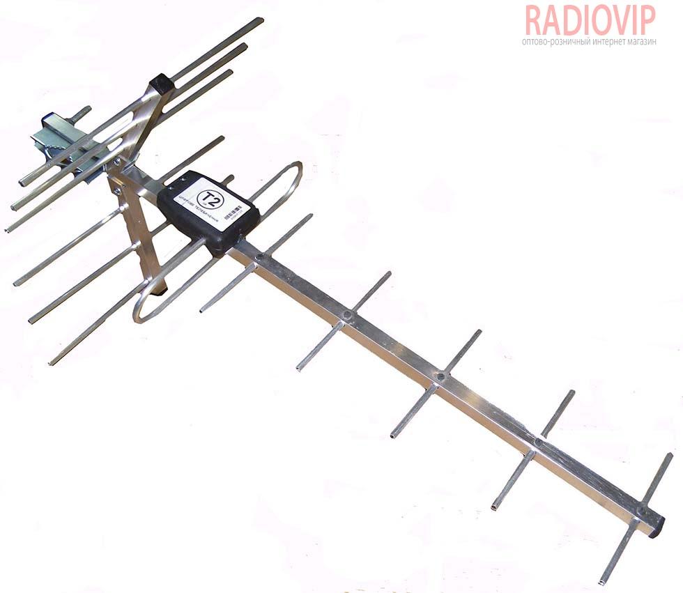 Антенна телевизионная наружная ДМВ Т2 DVB_15КА - купить в Киеве Лучшая цена от интернет-магазина Radiovip.com.ua с доставкой по