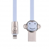 Кабель ROCK Monkey Lightning Cable 1m