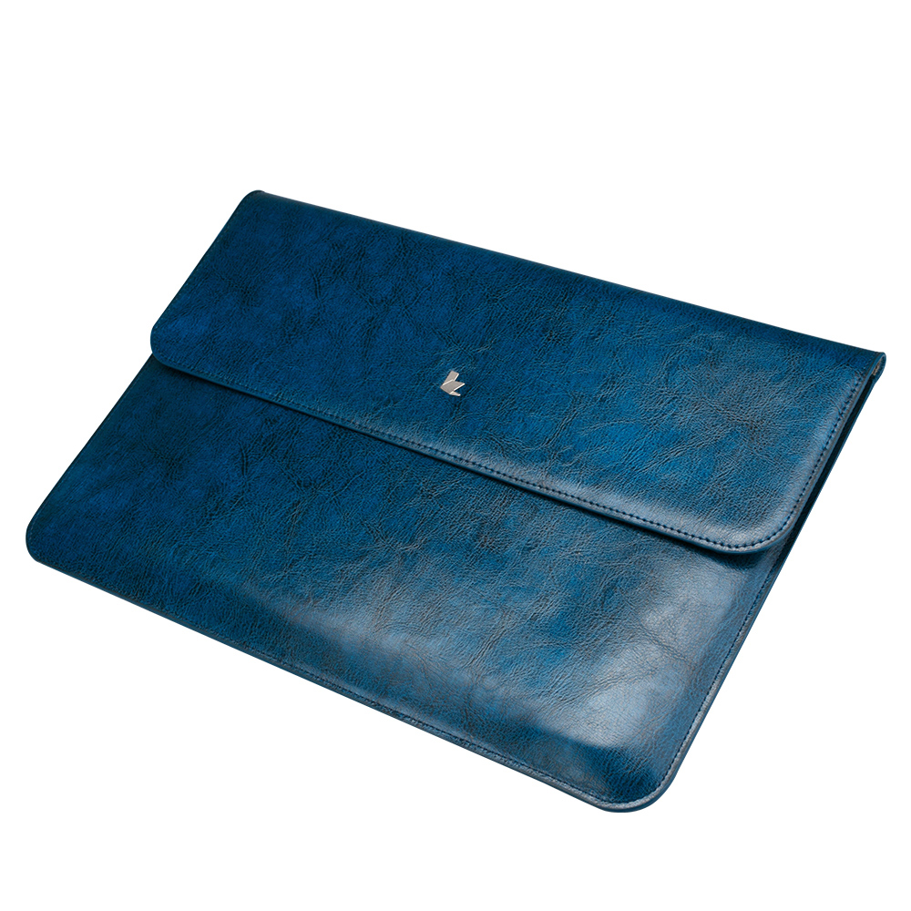 Чехол-конверт Jisoncase для Macbook Pro 13 2016-2018 Leather Blue