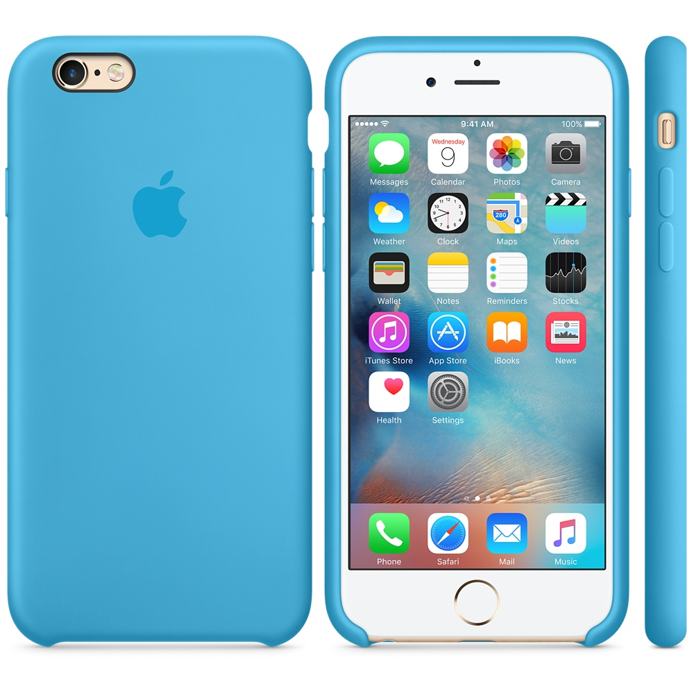 Чехол Apple Silicone Case для iPhone 5/5s/SE Blue