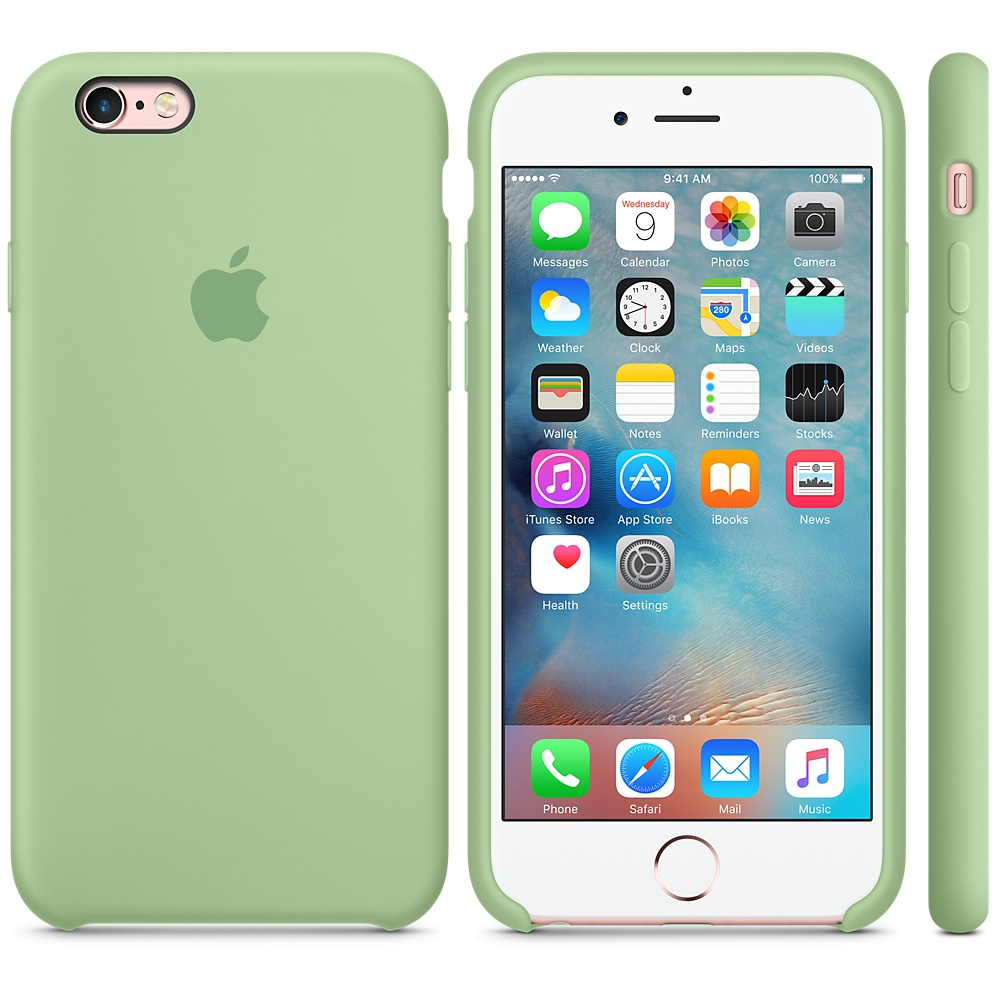 Чехол Apple Silicone Case для iPhone 6 Plus/6s Plus Mint OEM