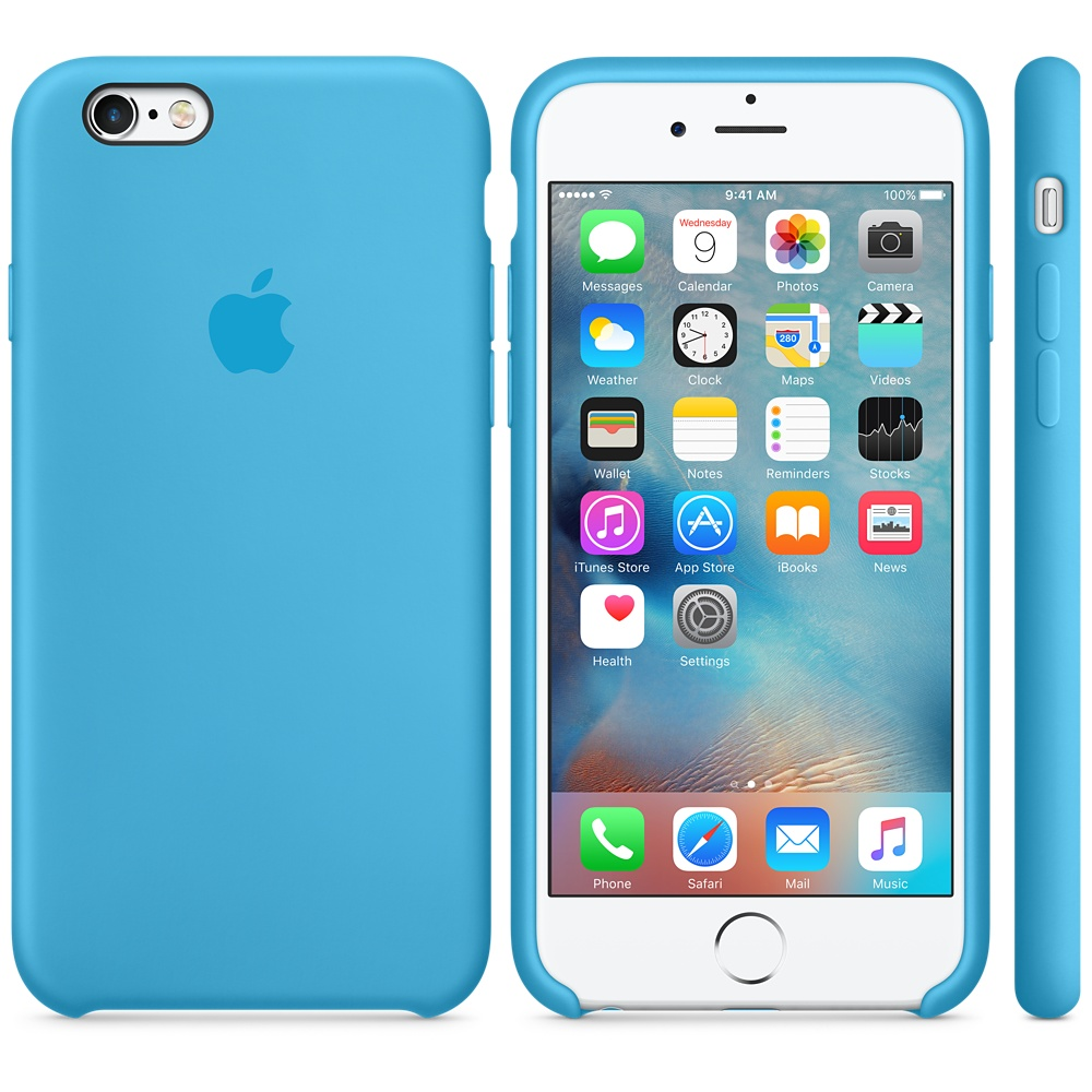 Чехол Apple Silicone Case для iPhone 6 Plus/6s Plus Blue OEM