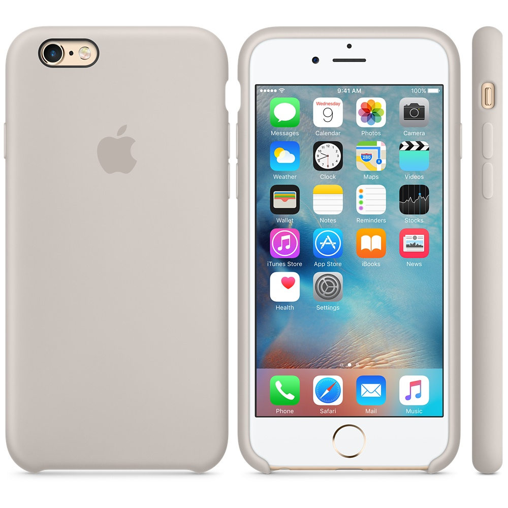 Чехол Apple Silicone Case для iPhone 5/5s/SE Stone